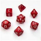 Opaque Red/White Poly 7 Die Set
