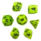 Vortex: Bright Green/Black 7-Die Set