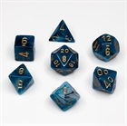 Phantom: Teal/Gold 7-Die Set