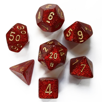 Glitter: Ruby/Gold 7-Die Set