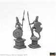 Amazon and Spartan Living Statues - Bronze (2) (Bones Black)