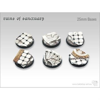 Ruins of Sanctuary - 25mm Round Bases