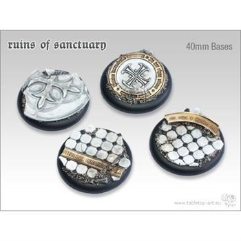 Ruins of Sanctuary - 40mm Round Lipped Bases (2)