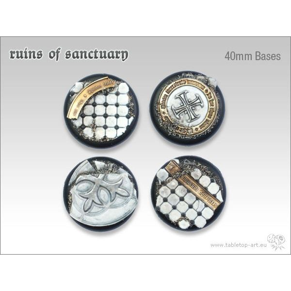Ruins of Sanctuary - 40mm Round Lip Bases