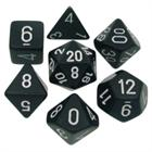 Opaque Black/White Poly 7 Die Set