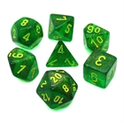 Borealis: Maple Green/Yellow 7-Die Set