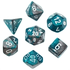 Gemini: Steel-Teal/White 7-Die Set