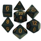 Opaque Black/Gold Poly 7 Die Set