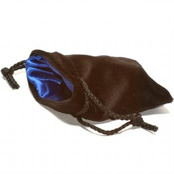 Large Black/Blue Koplow Velvet Bag