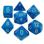 Opaque Light Blue/White Poly 7 Die Set