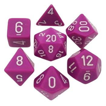 Opaque Light Purple/White Poly 7 Die Set