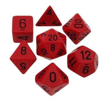 Opaque Red/Black Poly 7 Die Set