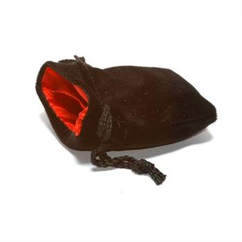 Small Black/Red Koplow Velvet Bag