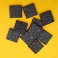20mm Square Closed Textured Bases (10)