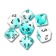 Gemini: Teal-White/Black 7-Die Set