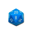 Large D20 - Opaque Light Blue/White