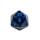 Large D20 - Speckled Cobalt