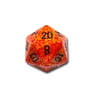 Large D20 - Speckled Fire