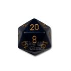 Large D20 - Speckled Golden Cobalt