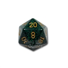 Large D20 - Speckled Golden Recon