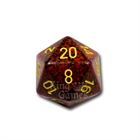 Large D20 - Speckled Mercury