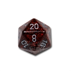 Large D20 - Speckled Silver Volcano