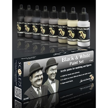 Scale 75 - Black and White Paint Set