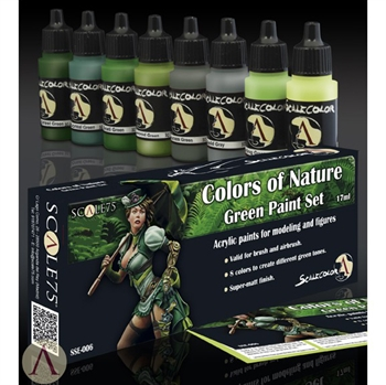 Scale 75 - Colors of Nature - Green Paint Set