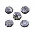 Dirty Old Town Bases - 25mm Round Bases (5)
