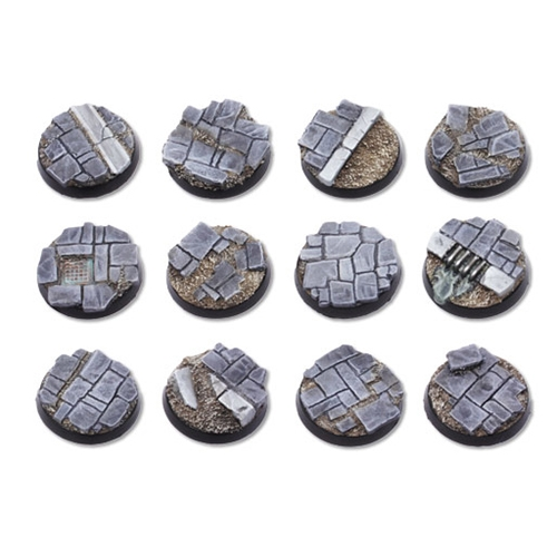 Dirty Old Town Bases - 25mm Round Bases