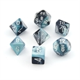 Gemini: Black-Shell/White 7-Die Set