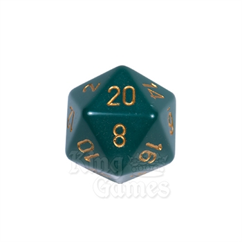 Large D20 - Opaque Dusty Green/Gold