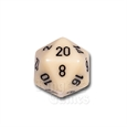 Large D20 - Opaque Ivory/Black