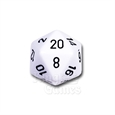 Large D20 - Opaque White/Black