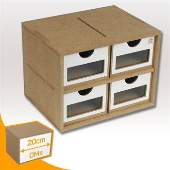 Drawers Module x 4 (Slim)