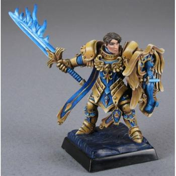 Almaran the Gold, Paladin With Flaming Sword