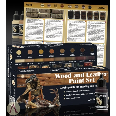 Scale 75 - Wood & Leather Paint Set