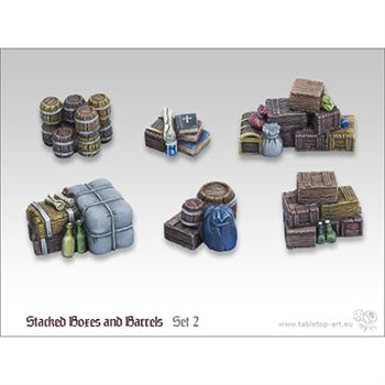 Stacked Boxes and Barrels Set 2