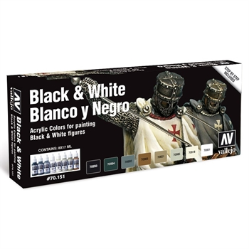 Vallejo - Black & White Set