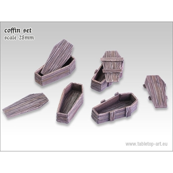 Wood Coffins Set
