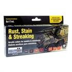Vallejo - Rust, Stain and Streaking Set (Model Color)
