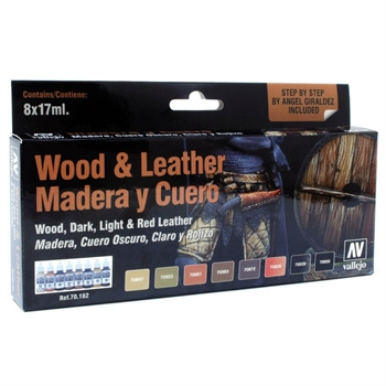 Vallejo - Wood & Leather Set