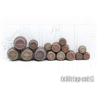 Wooden Barrels Set 4 - Mixed Sizes (15)