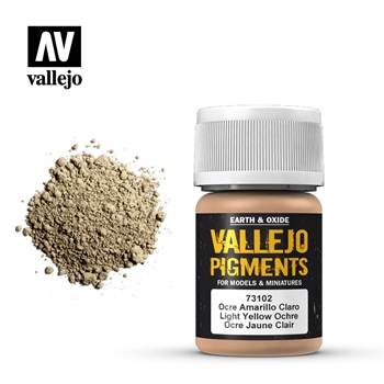 Vallejo Pigment: Light Yellow Ocre